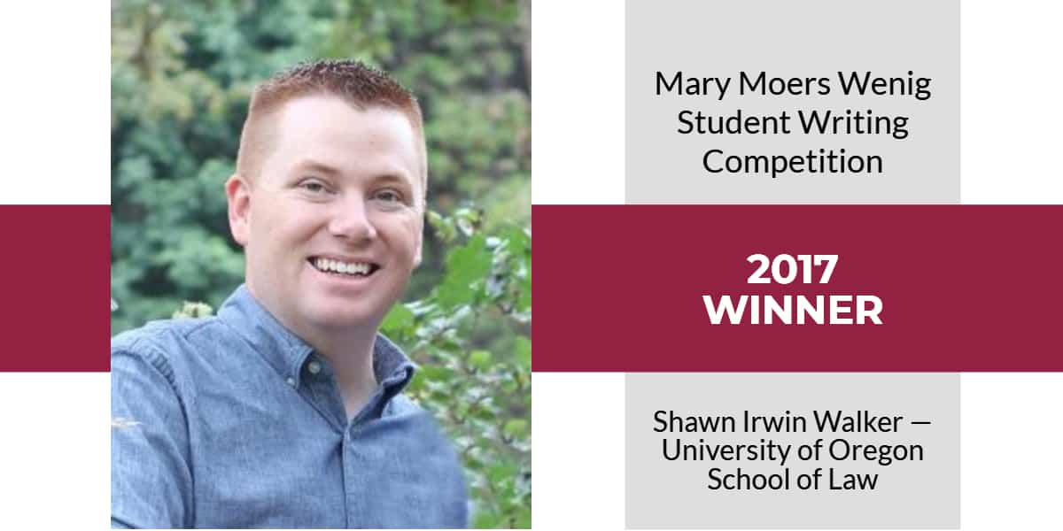 Mary Moers Wenig Student Writing Competition 2017 Winner