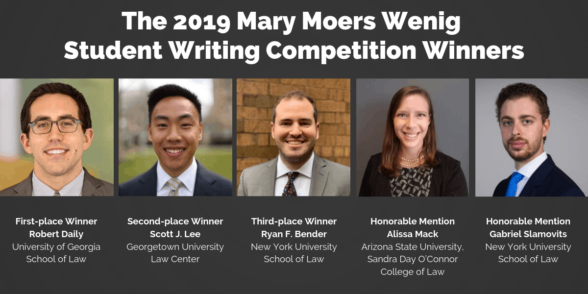 Mary Moers Wenig 2019 Student Writing Competition Winners