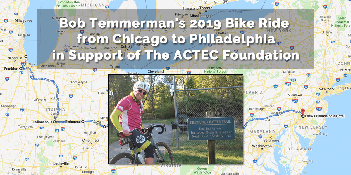 Bob Temmerman's Ride for The ACTEC Foundation