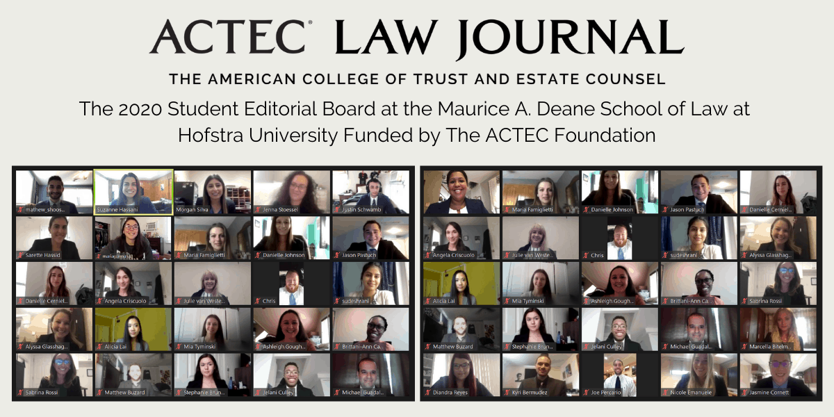 New Student Editors at the ACTEC Law Journal