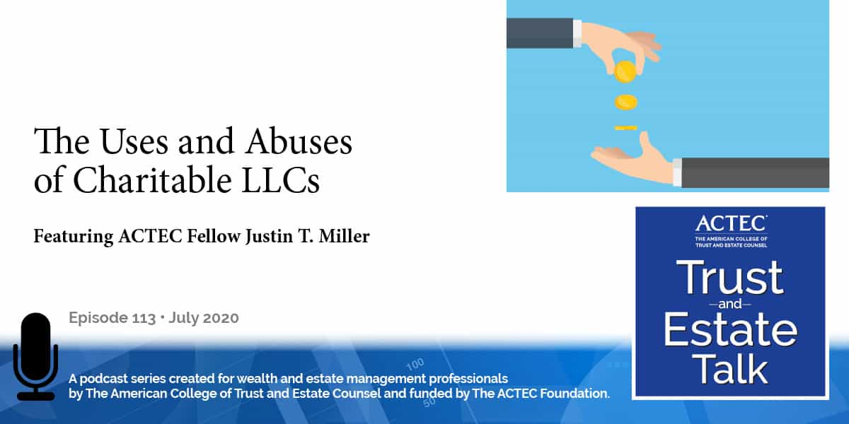 The Uses and Abuses of Charitable LLCs
