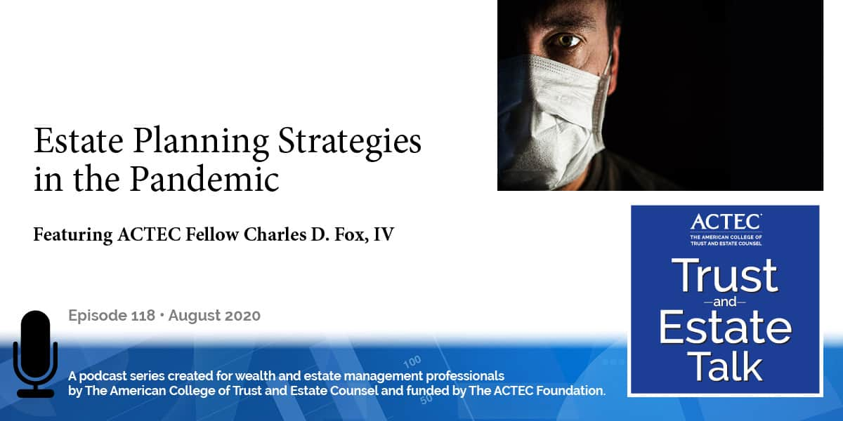 Estate Planning Strategies in the Pandemic