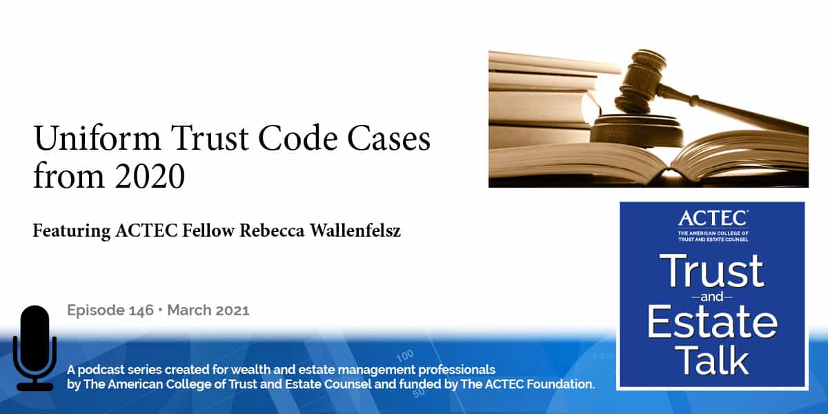 Uniform Trust Code Cases from 2020