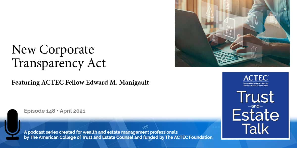 New Corporate Transparency Act