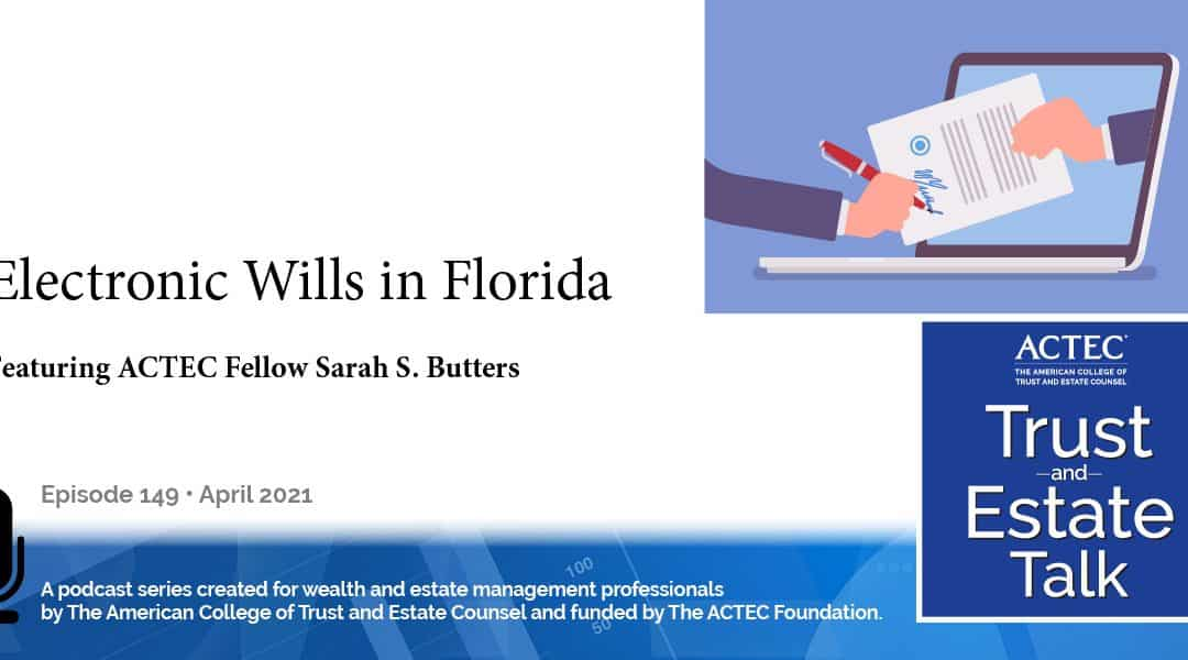 Electronic Wills in Florida