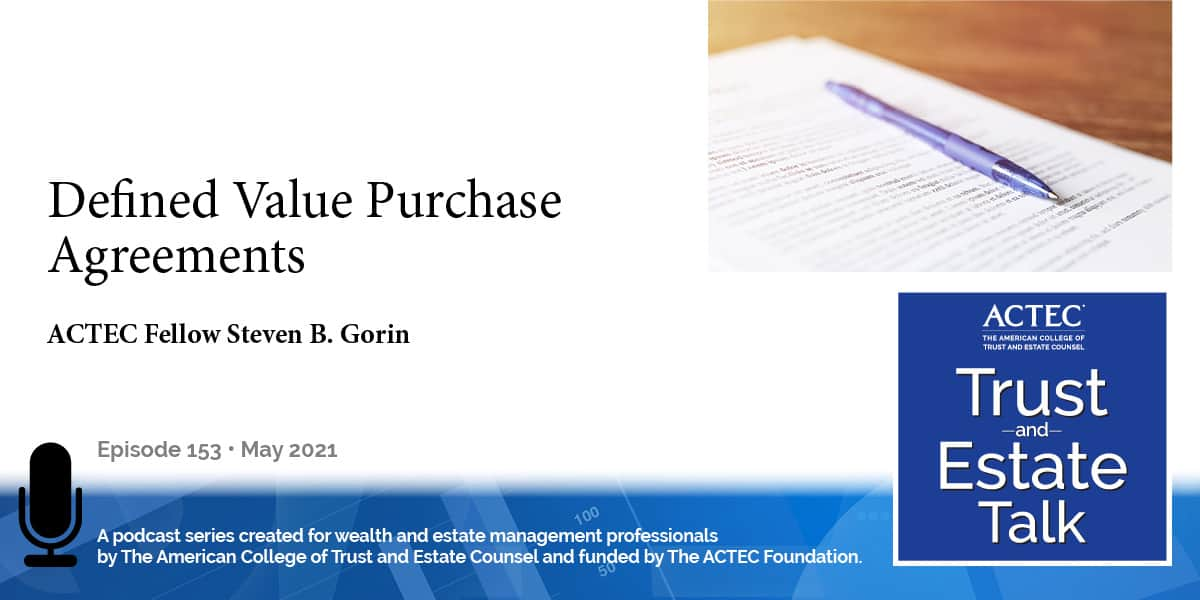 Defined Value Purchase Agreements