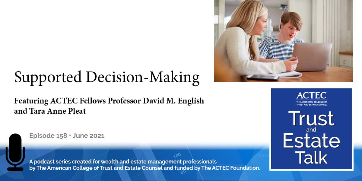 Supported Decision-Making