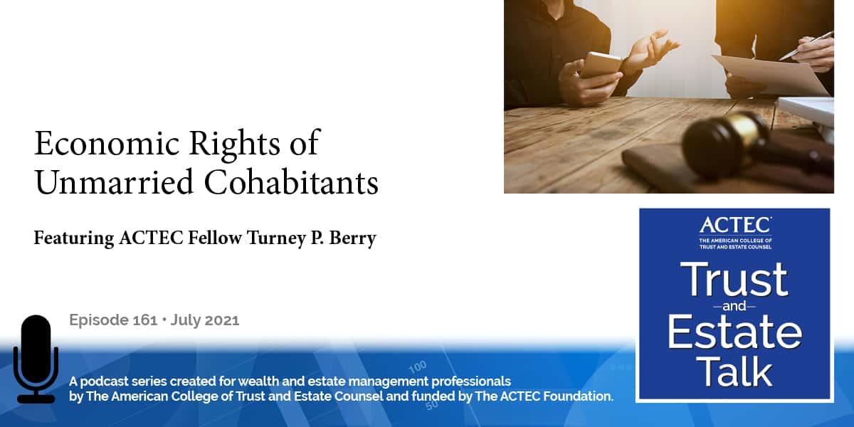 Economic Rights of Unmarried Cohabitants