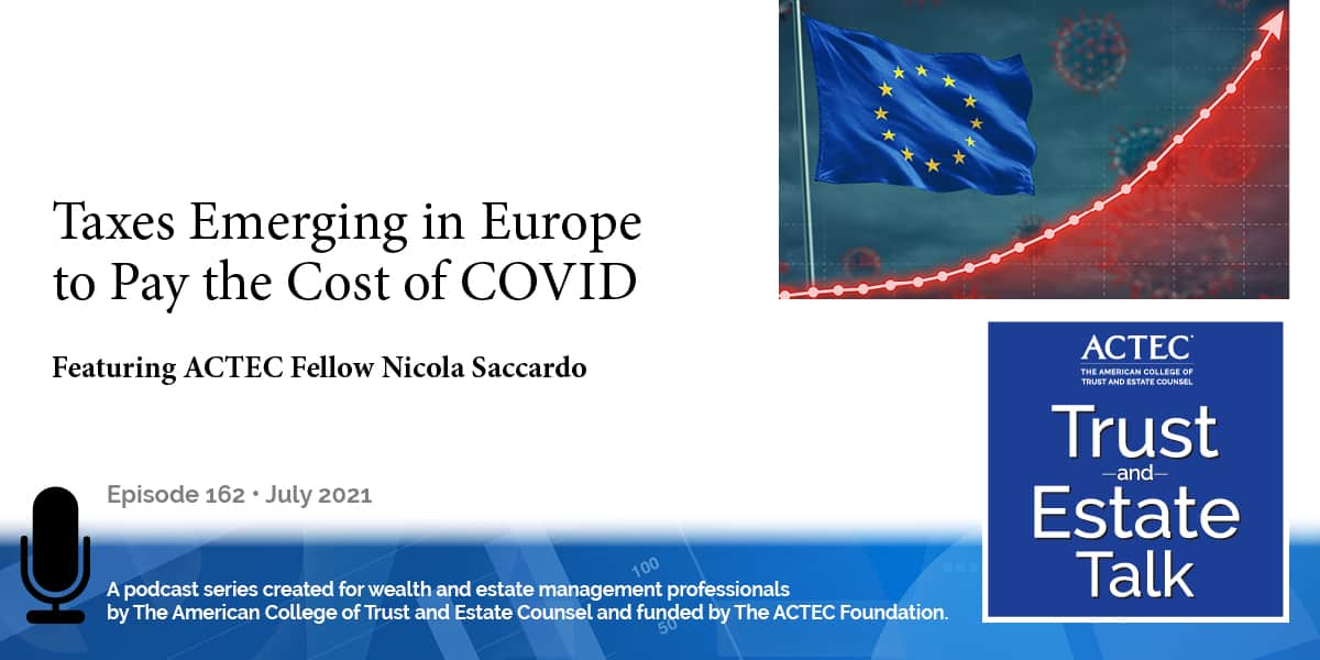 Taxes Emerging in Europe to Pay the Cost of COVID
