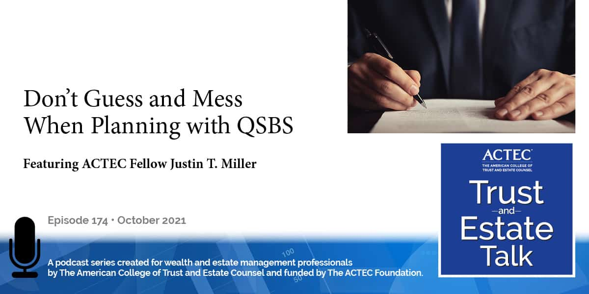 Don't Guess and Mess When Planning with QSBS