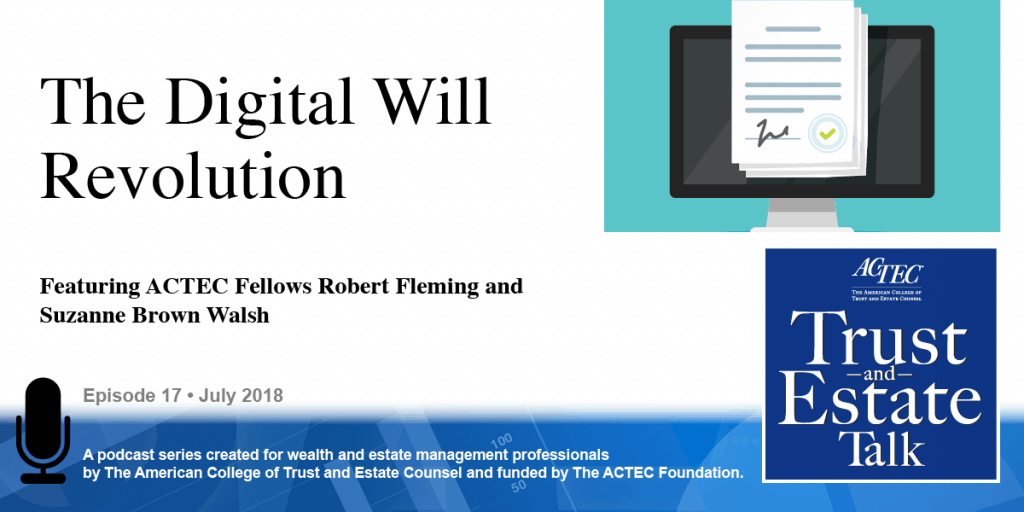 The Digital Will Revolution | e-will | electronic will