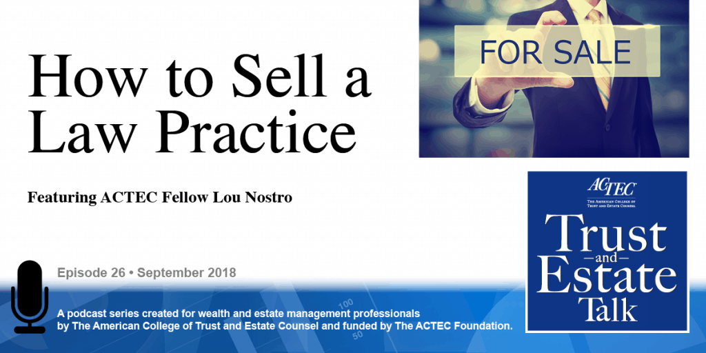 How to Sell a Law Practice