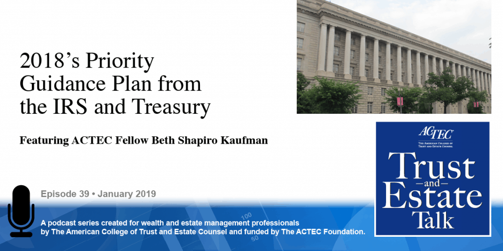 2018's Priority Guidance Plan from the IRS and Treasury
