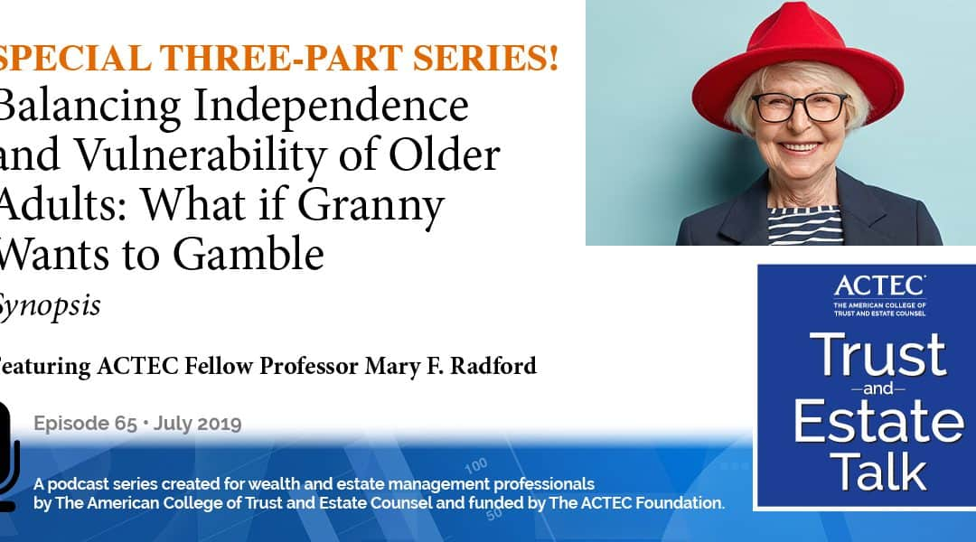 Balancing Independence and Vulnerability of Older Adults   Synopsis