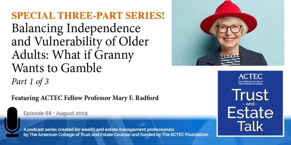 Balancing Independence and Vulnerability of Older Adults