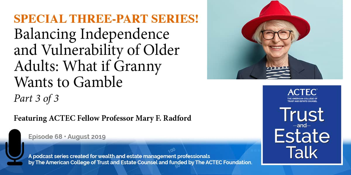 Balancing Independence and Vulnerability of Older Adults   Part 3