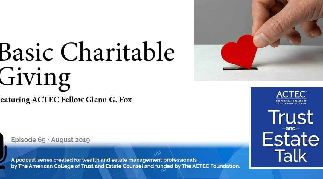 Basic Charitable Giving