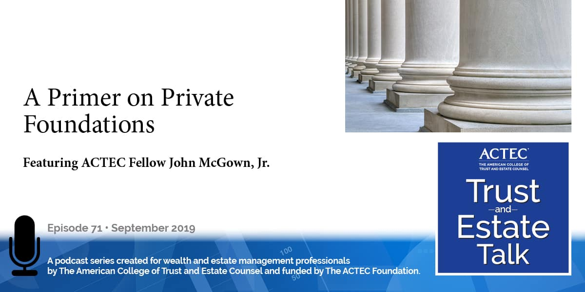 A Primer on Private Foundations | Private Charitable Foundation
