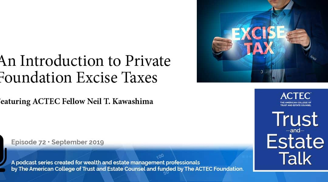 An Introduction to Private Foundation Excise Taxes