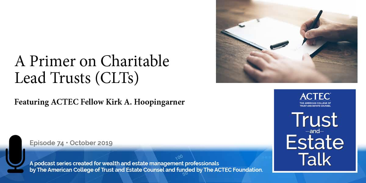 A Primer on Charitable Lead Trusts