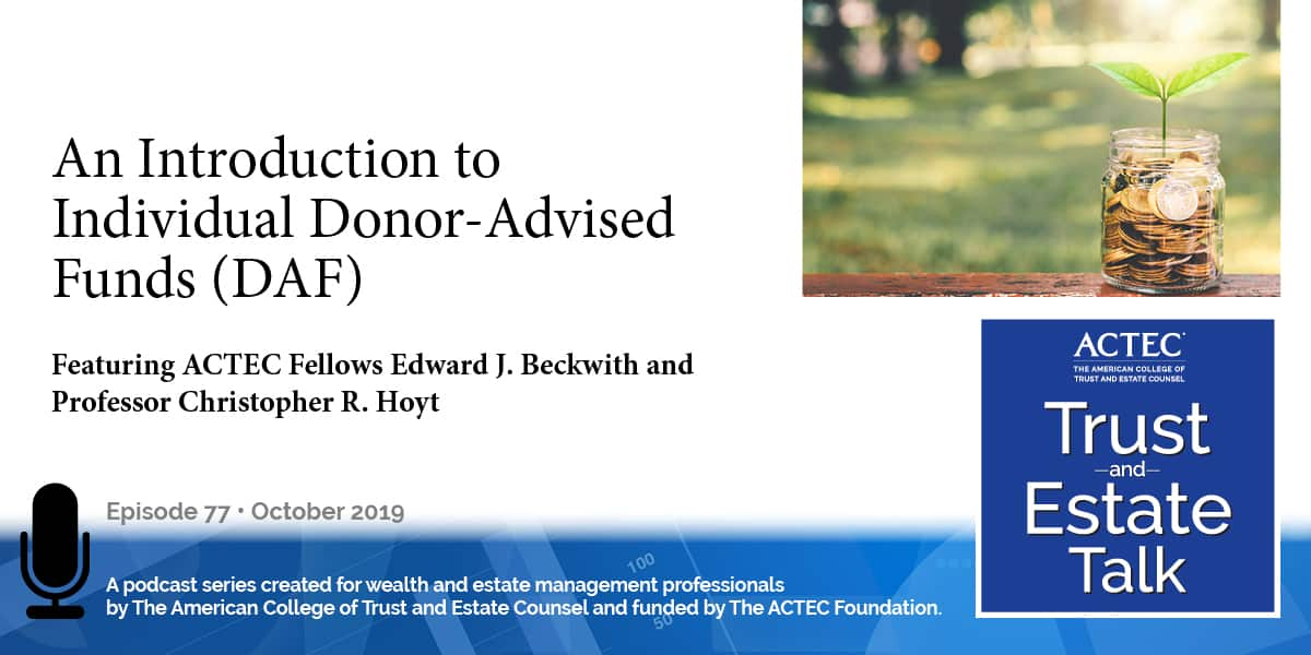 An Introduction to Individual Donor Advised Funds