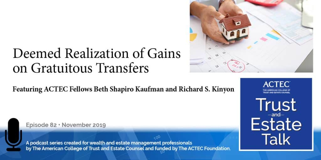 Deemed Realization of Gains on Gratuitous Transfers