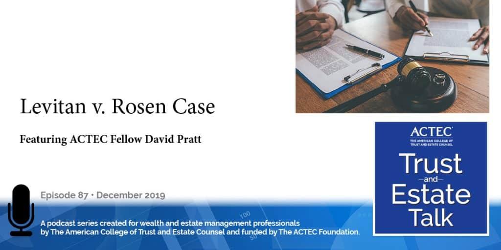Levitan v. Rosen Case | Trusts Marital Property