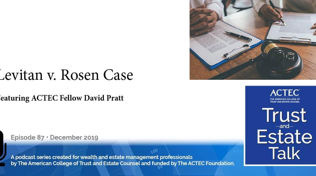 Levitan v. Rosen Case