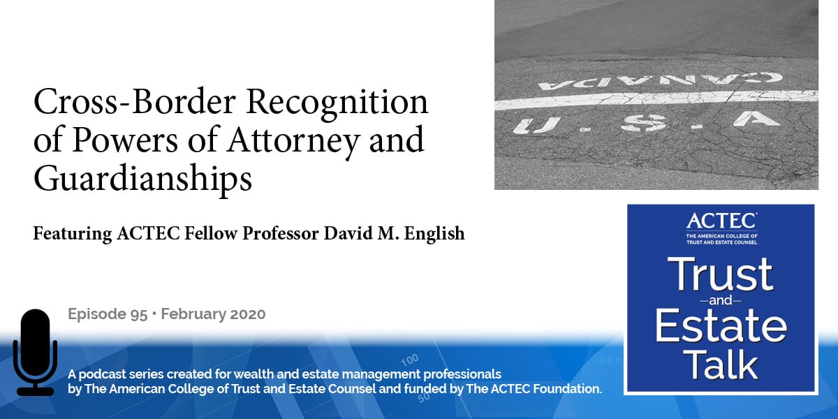 Cross-Border Recognition of Powers of Attorney and Guardianships