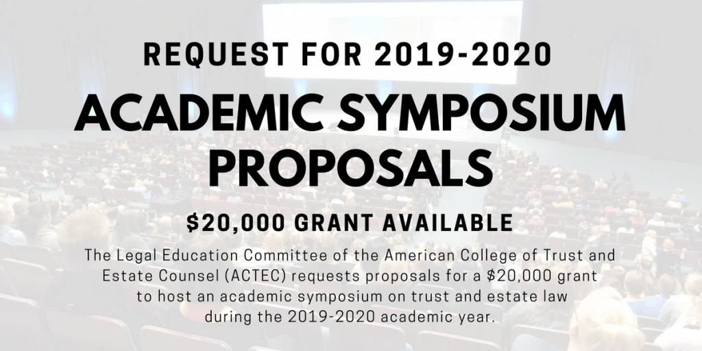 Academic Symposium Proposals