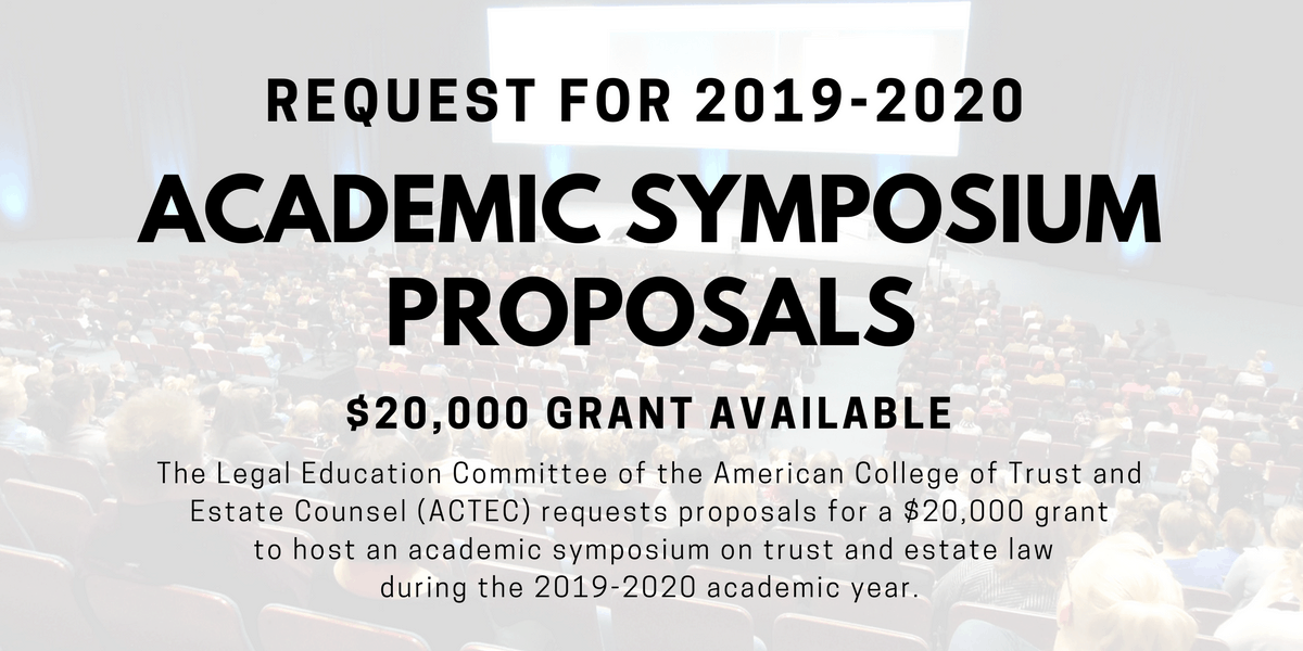 Request for Proposals for 2019-2020 Academic Symposium
