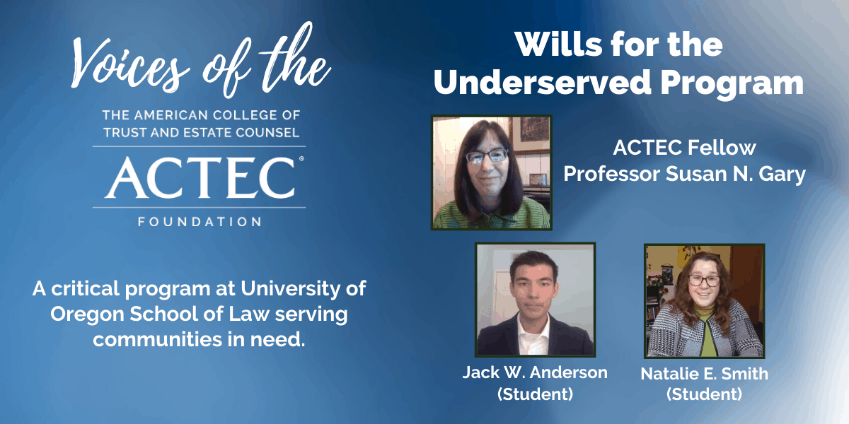 Wills for the Underserved Program