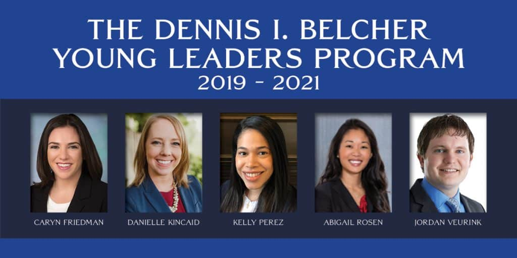 2019-2021 Class of Dennis I. Belcher Young Leaders